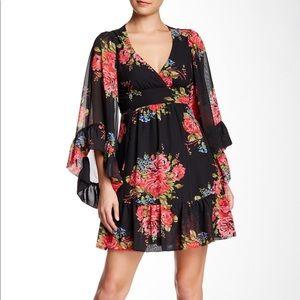 Betsey Johnson Floral Ruffle Dress